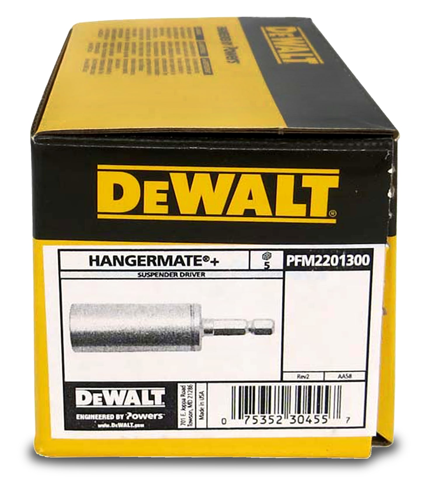 A fluted folding carton of black decker and dewalt
