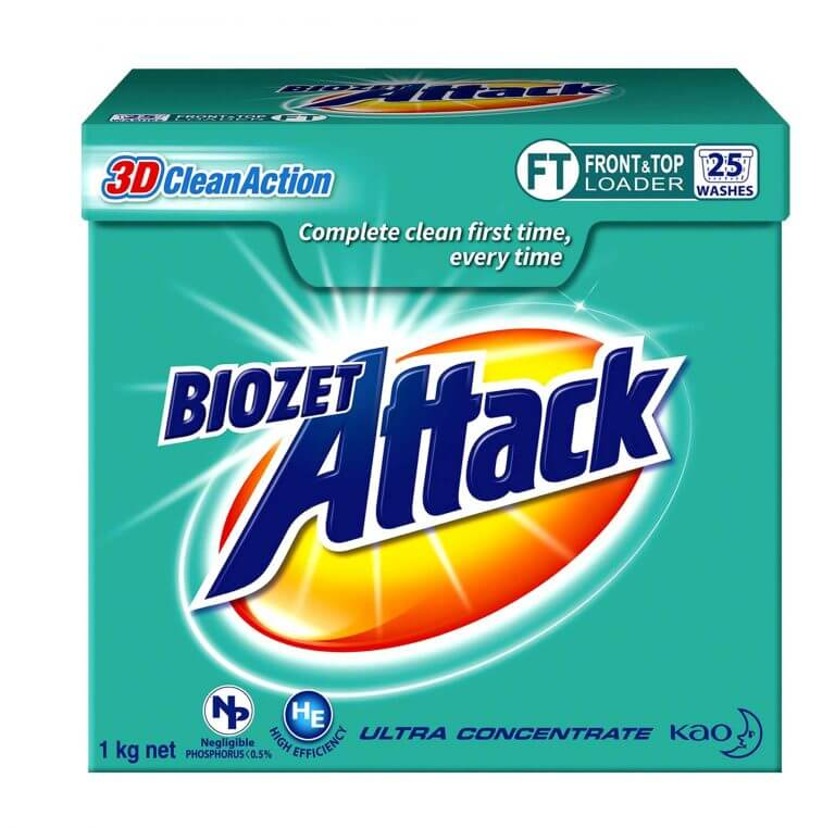 biozet attack - 3D clean action product packaging