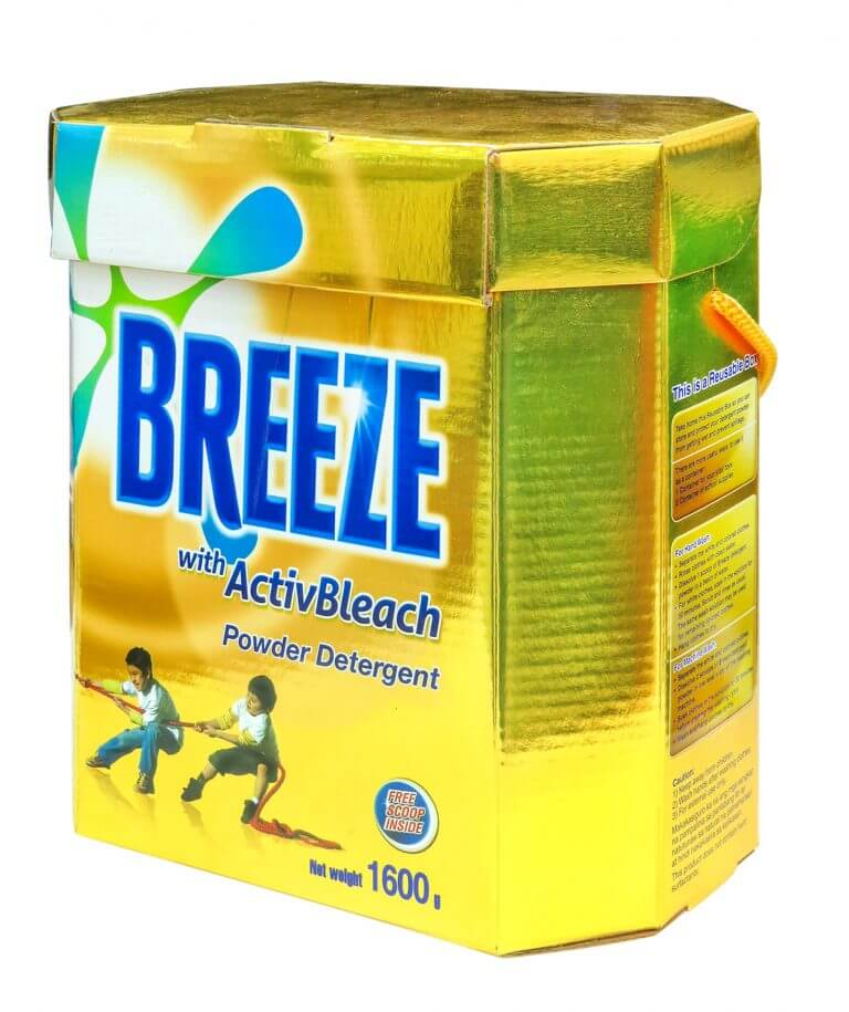 breeze detergent product packaging
