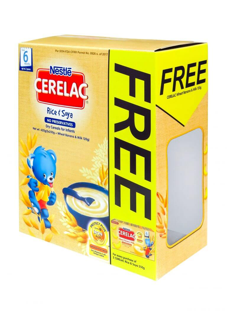 nestle cerelac milk box packaging