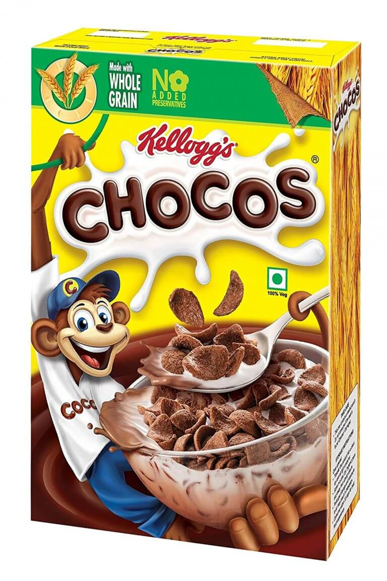 kelloggs chocos cereal box packaging
