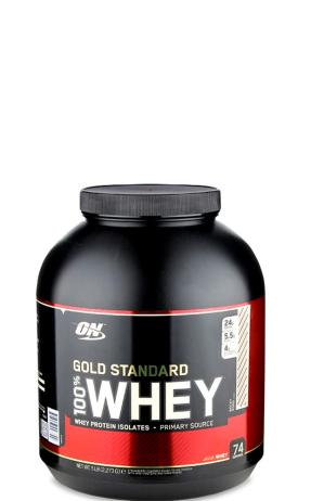 label packaging of gold standard whey protein