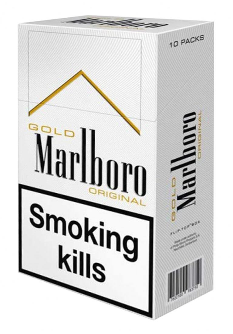 marlboro gold box packaging