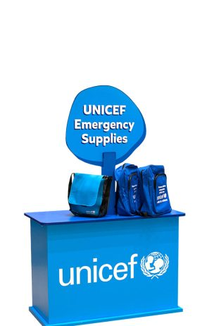 Unicef pop display