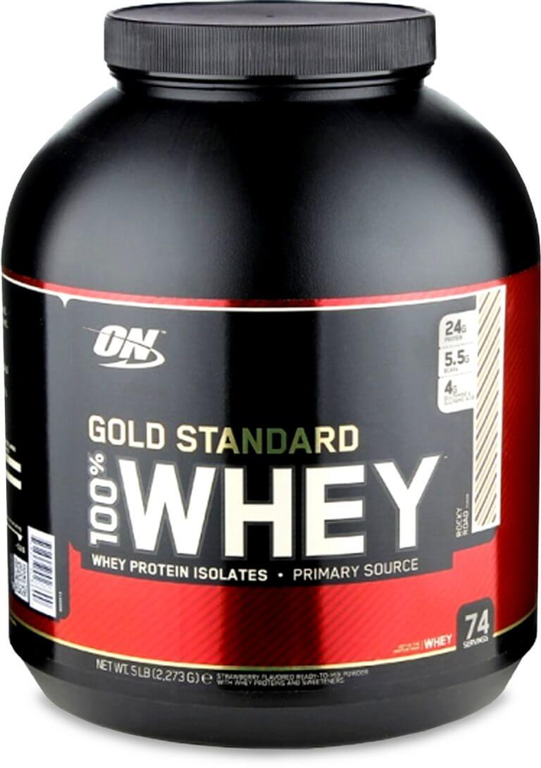 whey product label