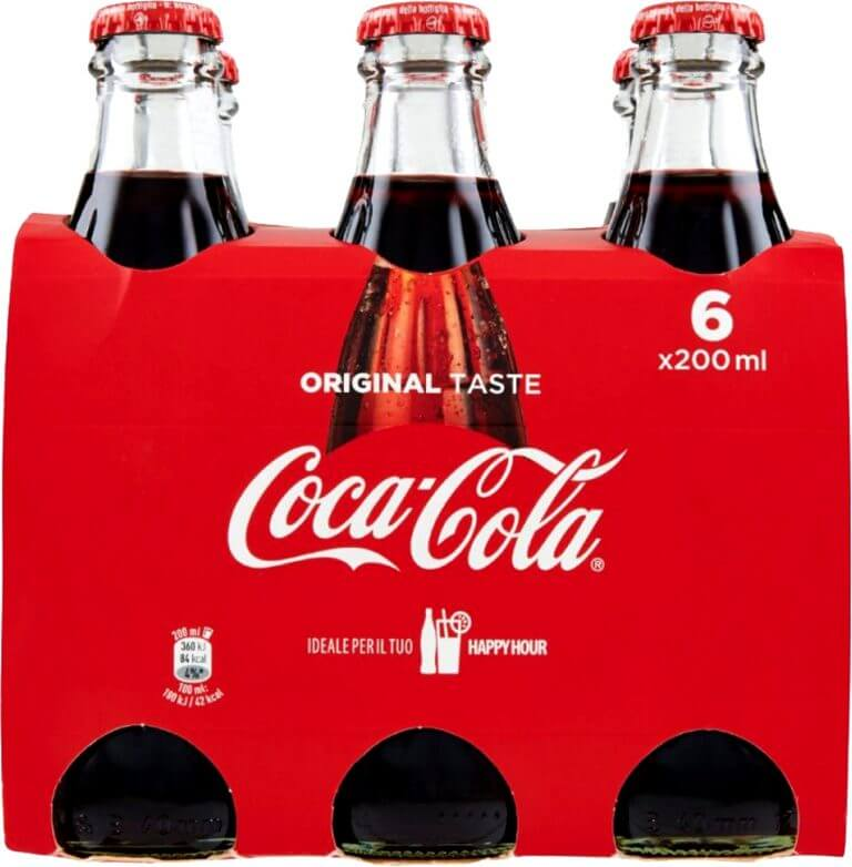 coke bottle packaging