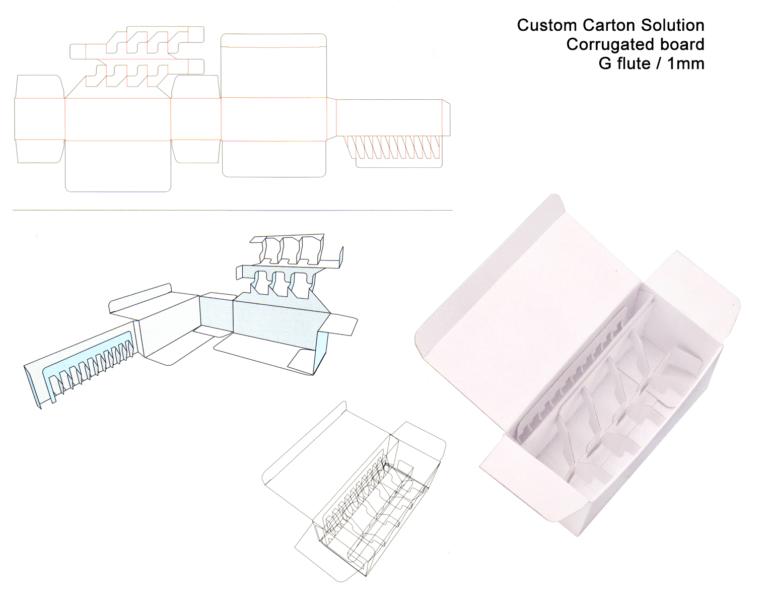 custom carton solutions g-flute