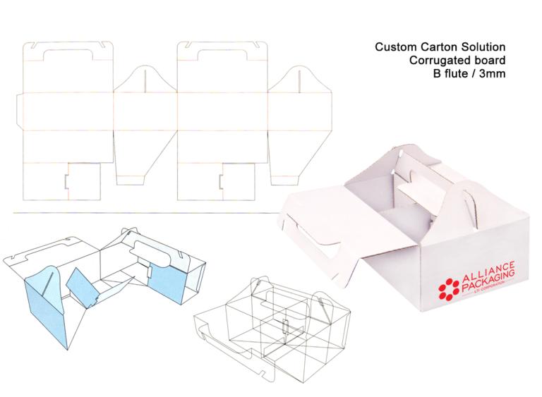 custom carton solutions b-flute