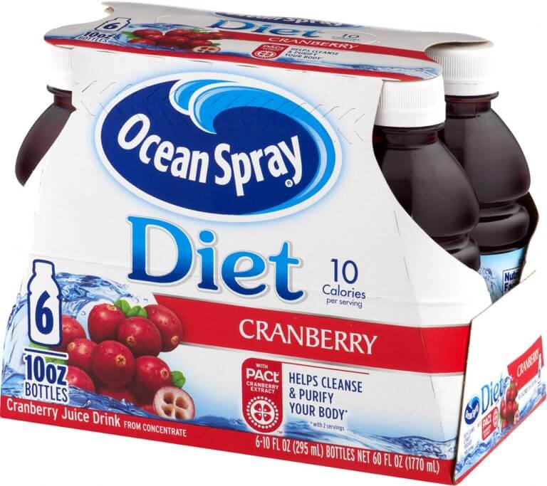 ocean spray cranberry drink box product packaging