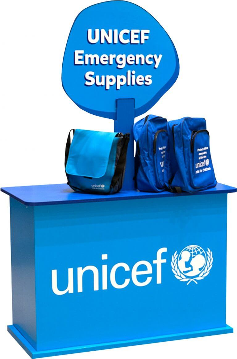 Unicef Emergency Supplies packaging